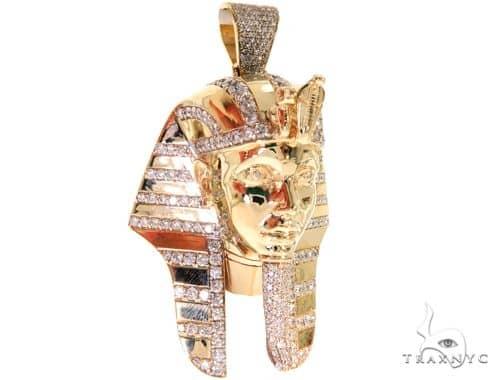 Pharaoh King Tut Diamond Pendant 57679 Metal