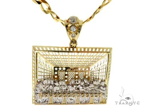 Last Supper Pendant Chain Set 58412 Metal
