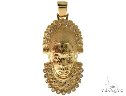 Mask Necklace Face Pendant Tribal Pendant African Mask Pendant 14k Gold Pendant Tribal Mask Pendant Mask Pendant Ethnic Pendant