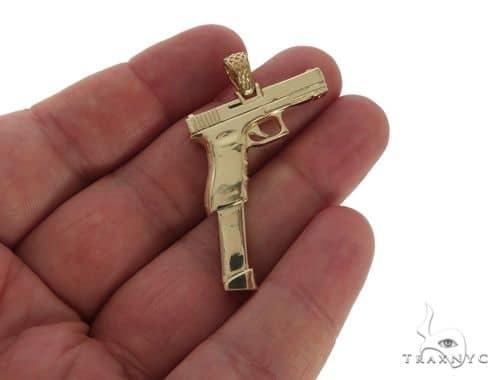 14k yellow gold gun pendant 58426 mens metal yellow gold 14k mens diamond jewelry mens pendants metal 14k yellow gold gun pendant 58426 aloadofball Image collections