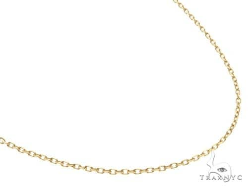 14KY Cabel Chain 16 Inches 1mm 3.3 Grams 58457 Gold