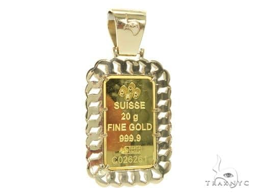 20 grams of 9999 gold bar with 14k gold diamond frame and bail mens diamond jewelry mens pendants metal 20 grams of 9999 gold bar with 14k gold diamond frame and bail suisse pendant 58585 aloadofball Gallery