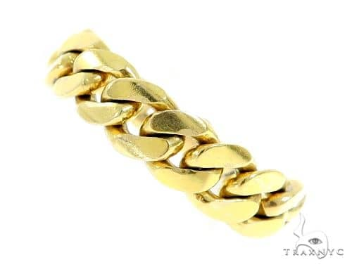 14k Gold 8.5mm Miami Cuban Link Ring 61420 Metal