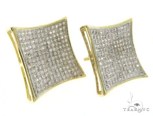 14k Yellow Gold Micro Pave Kite Earrings 61426 Stone