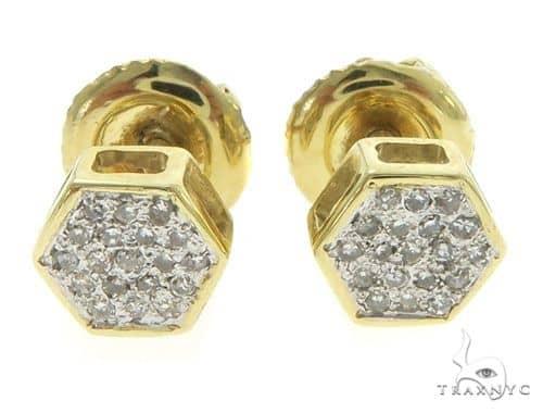 14K Yellow Gold Diamond Small Earrings 61450 Stone