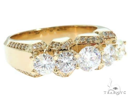14K Yellow Gold TraxNYC 5-Stone Diamond Ring 61477 Stone