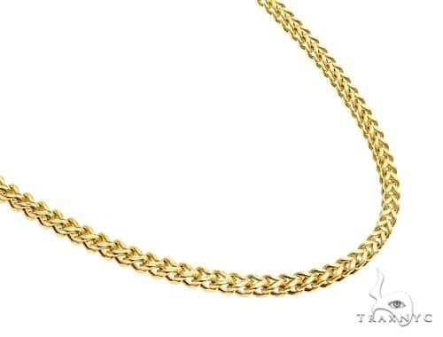 10K Yellow Gold Hollow Franco Link Chain 28 Inches 2.8mm 12.3 Grams 61590 Gold