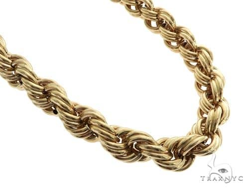 10K Yellow Gold Large Hollow Rope Link Chain 32 inches 22mm 158.2 Grams 61624 Gold