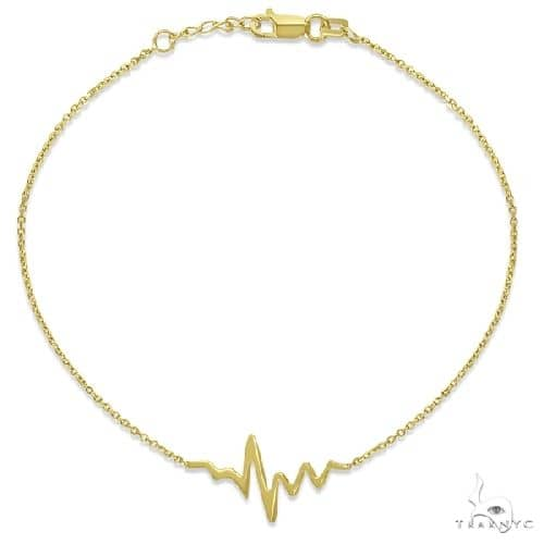 Adjustable Heartbeat Bracelet in 14k Yellow Gold Gold