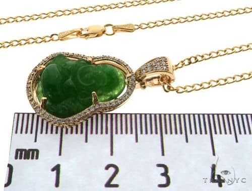 Jade buddha 20inches cuban link chain set 61808 mens style yellow mens diamond jewelry mens pendants style jade buddha 20inches cuban link chain set 61808 aloadofball Image collections