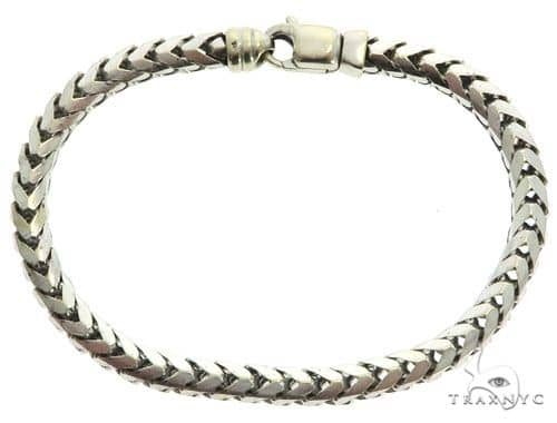 14K White Gold Men's Bracelet 61855 Gold