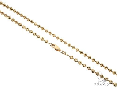 14K Yellow Gold Diamond Cut Ball Link Chain 24 Inches 4mm 28.8 Grams 61856 Gold