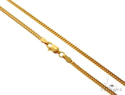 22K Yellow Gold Foxtail Link Chain 22 Inches 2.1mm 14.7 Grams 62507 Gold