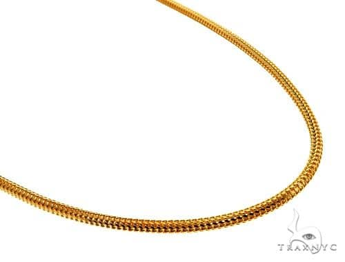 22K Yellow Gold Franco Link Chain 22 Inches 3.2mm 28.2 Grams 62508 Gold