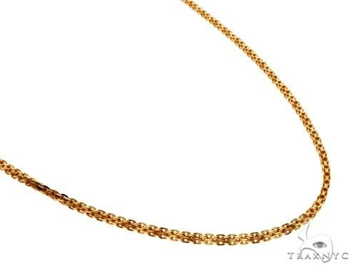 22K Yellow Gold Double Box Link Chain 22 Inches 1.9mm 16.1 Grams 62510 Gold