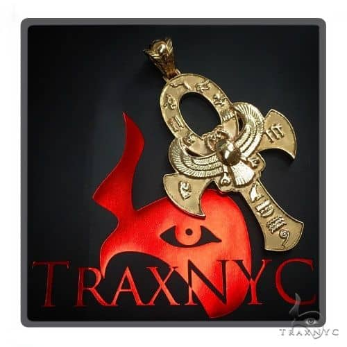 Large 14K Yellow Gold TraxNYC's Mystique Ankh Cross 57694 Gold