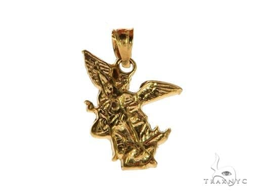 Small st saint michael charm pendant protection 62996 mens metal mens diamond jewelry mens pendants metal small st saint michael charm pendant protection 62996 mozeypictures Gallery