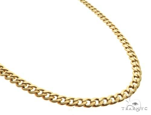 10K Yellow Gold Hollow Cuban Curb Link 26 Inches 5.5mm 20.5 Grams 63096 Gold