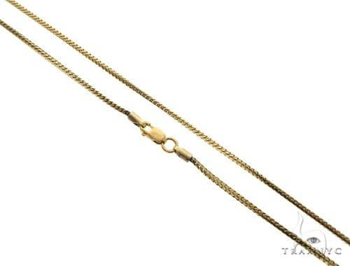 10K Yellow Gold Franco Link Chain 22 Inches 1mm 6.9 Grams 63178 Gold