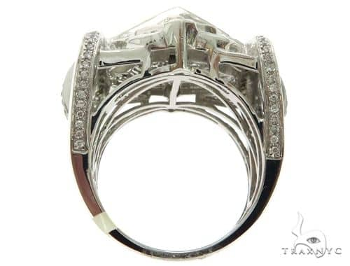 14K White Gold Invisible Bezel MicroPave Diamond Kings Ring 63186