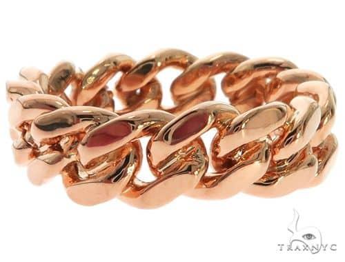 14K Rose Gold Miami Cuban Link Ring 63187 Metal
