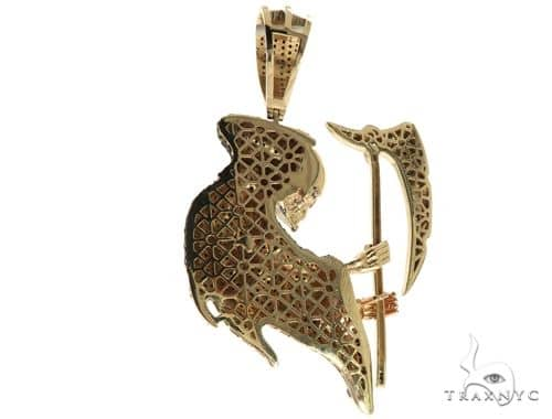 14k yellow gold prong diamond grim reaper pendant 63239 mens metal mens diamond jewelry mens pendants metal 14k yellow gold prong diamond grim reaper pendant 63239 mozeypictures Gallery