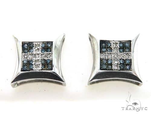 10K White Gold Micro Pave Diamond Stud Earrings 63328 Stone