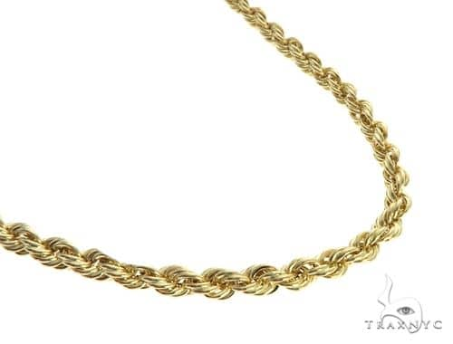 10K Yellow Gold Hollow Rope Link Chain 18 Inches 4mm 5.8 Grams 63394 Gold