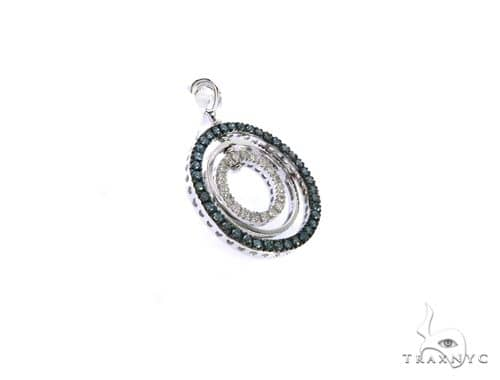 14K White Gold Triple Circle Earrings. 63415 Stone