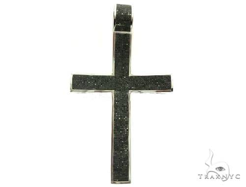 10K White Gold Diamond Stud XL Cross Pendant. 63469 Metal