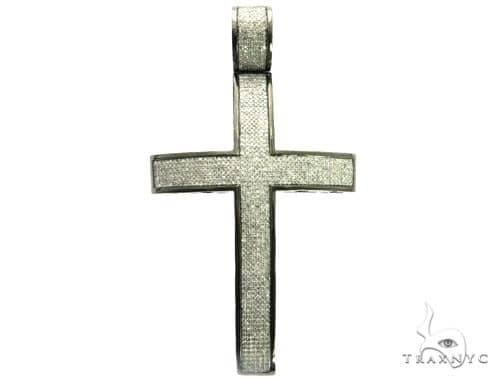 10K Black Gold Diamond Cross Pendant. 63480 Metal