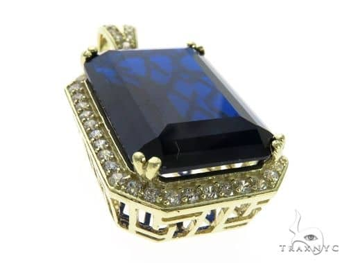 Blue Treasure Gold Pendant 63437 Metal
