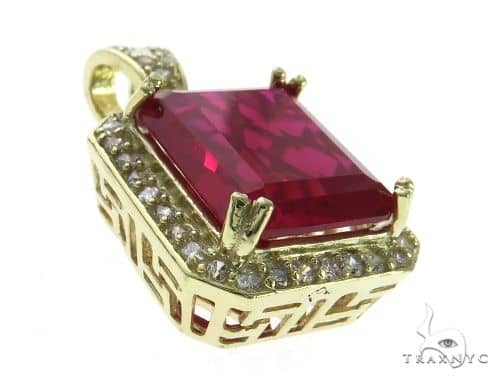 Mini Hot Red Tresaure Gold Pendant 63441 Metal