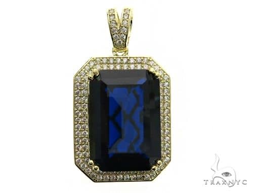 Two Row Blue Tresaure Gold Pendant 63446 Metal