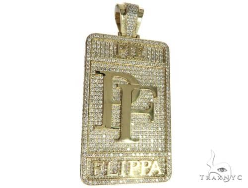 10k yellow gold prong diamond custom made pie flippa pendant 63529 mens diamond jewelry mens pendants metal 10k yellow gold prong diamond custom made pie flippa pendant 63529 aloadofball Image collections