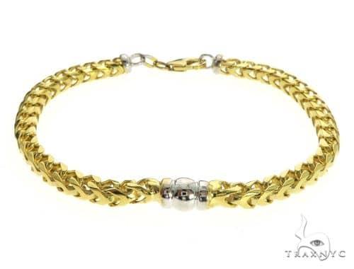 14K Two Tone Gold Franco Link Bracelet 63535 Gold