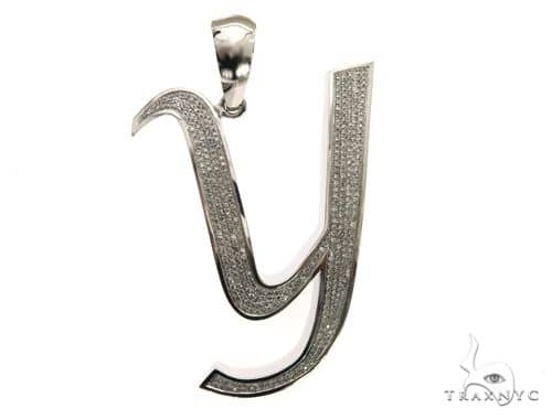14K White Gold Diamond 'Y' Initial 63552 Metal