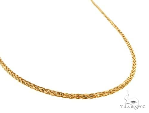 22K Yellow Gold Wheat Link Chain 16 Inches 1.5mm 5.7 Grams 63566 Gold
