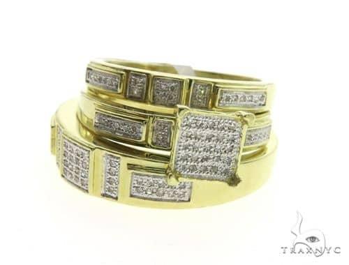 10K Yellow Gold Wedding Set 63580 Stone