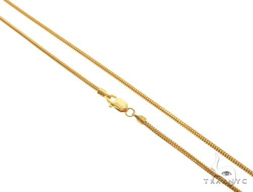 22K Yellow Gold Franco Link Chain 18 Inches 1.7mm 8.5 Grams 63590 Gold
