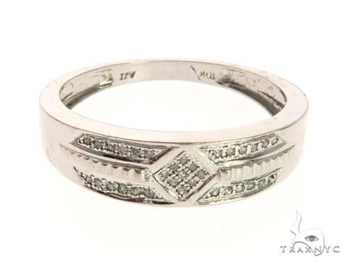 10K White Gold Micro Pave Diamond Ring 63641 Stone