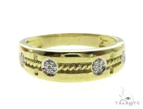 10K Yellow Gold Micro Pave Diamond Ring 63644 Stone