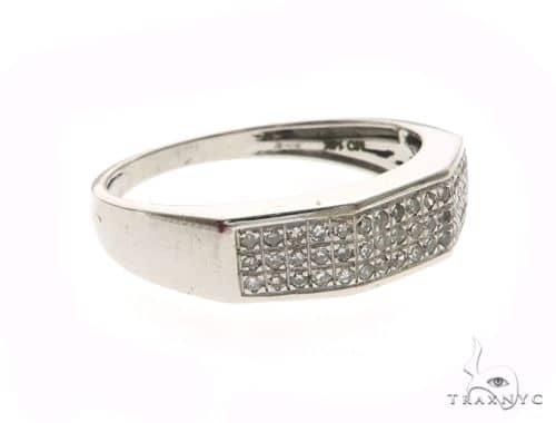 14K White Gold Micro Pave Diamond Ring 63664 Stone
