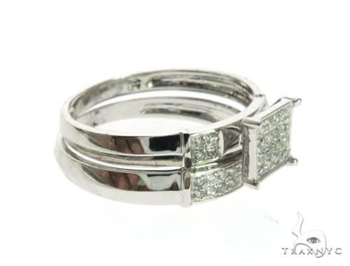 10K White Gold Ladies Diamond Ring Set 63666 Anniversary/Fashion