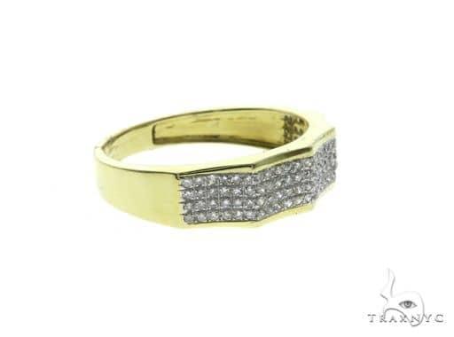 14K Yellow Gold Diamond Design Ring 63683 Stone
