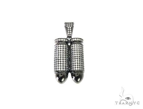Double Bullet Pendant 63694 Metal
