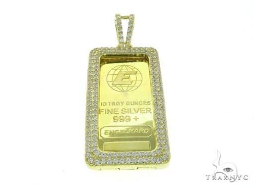 Yellow Dog Tag Pendant 63695 Metal