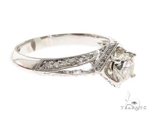 18K White Gold Prong Diamond Ring 63711 Anniversary/Fashion