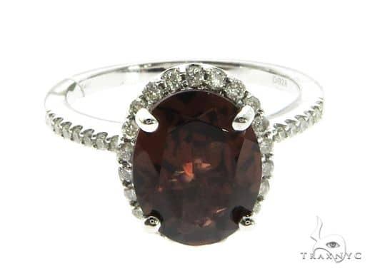 14K White Gold Red Garnet & Diamond Ring 63714 Anniversary/Fashion