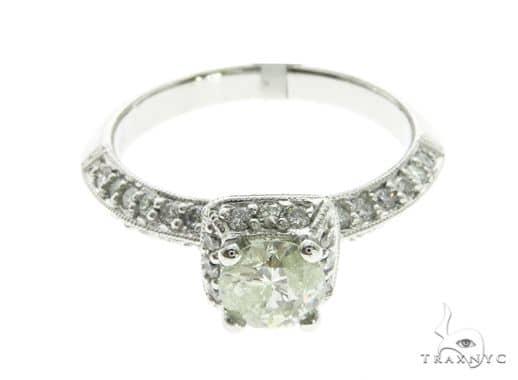 18K White Gold Prong Diamond Ring 63723 Anniversary/Fashion